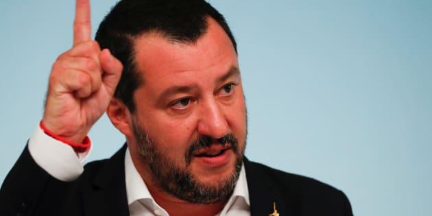 Matteo Salvini à Rome le 24 septembre 2018.