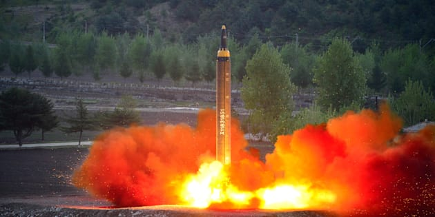 North Korea fires missile into waters off east coast