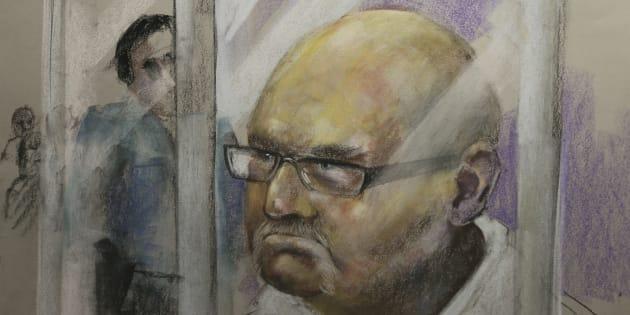 Le portrait de Richard Henry Bain lors de sa comparution le 6 septembre 2012.