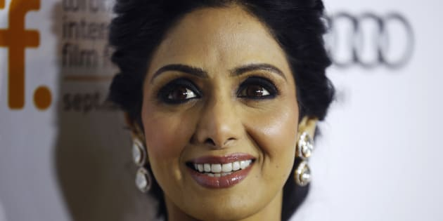 "Actress Sridevi Kapoor arrives for the gala presentation of ""English Vinglish"" at the 37th Toronto International Film Festival, September 14, 2012."