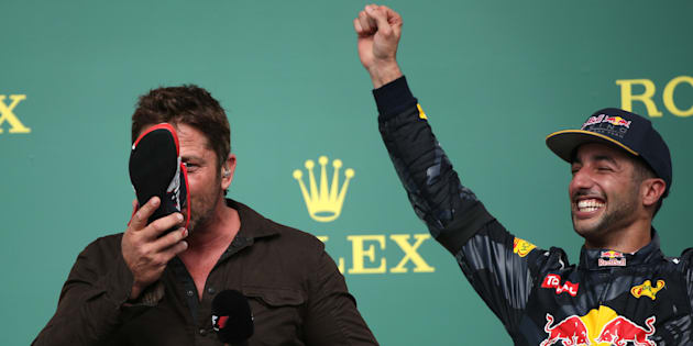 Daniel Ricciardo finished third after Lewis Hamilton and Nico Rosberg in the F1 Drivers' Championship.