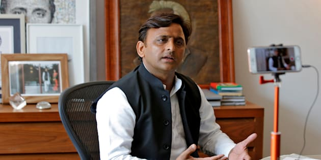 Akhilesh Yadav, Samajwadi Party (SP) President, speaks during an interview with Reuters in Lucknow, India, February 22, 2017.