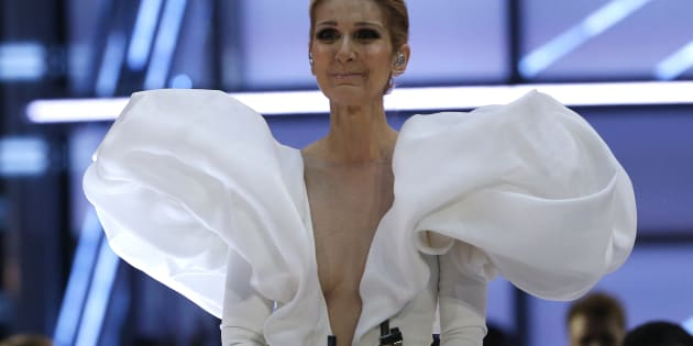 Céline Dion, émotive après avoir chanté «My heart will go on» aux Billboard Music Awards, en mai dernier.