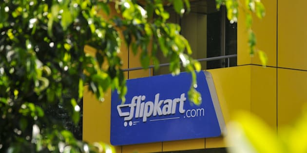 The logo of India's largest online marketplace Flipkart is seen on a building in Bengaluru, India.