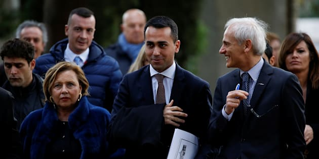 5-Star Movement leader Luigi Di Maio arrives at the Link Campus University in Rome, Italy February 6, 2018.  REUTERS/Alessandro Bianchi