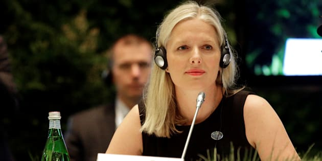 Environment Minister Catherine McKenna attends a summit of environment ministers from the G7 in Bologna, Italy, on June 11, 2017.