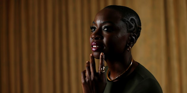 Cast member Danai Gurira poses for a portrait while promoting 'Black Panther'