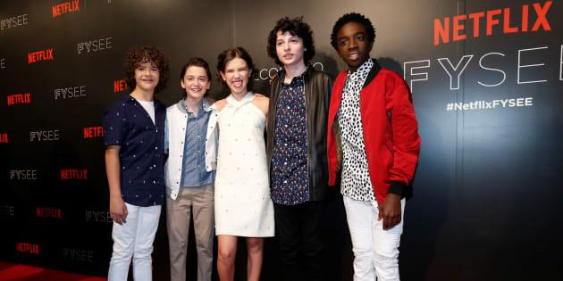 Les acteurs principaux de la série à Beverly Hills le 6 juin 2017.