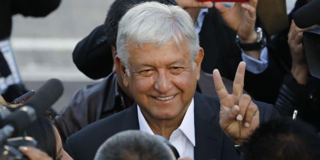Andrés Manuel Lopez Obrador à Mexico City le 1er juillet 2018.