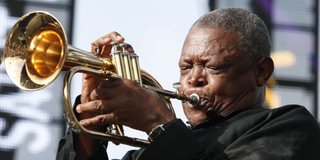 South African trumpeter and musician Hugh Masekela.