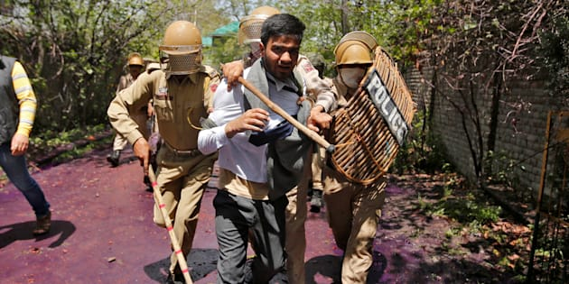 Clashes in Srinagar, police official injured