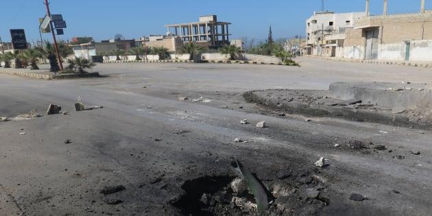Des stigmates de l'attaque chimique à Khan Cheikoun en Syrie le 4 avril 2017.