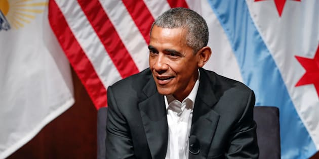 Barack Obama à Chicago le 24 avril 2017.