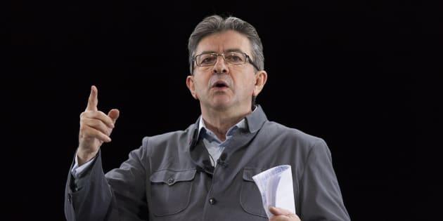 Mélenchon lors de son meeting à Lyon le 5 février.