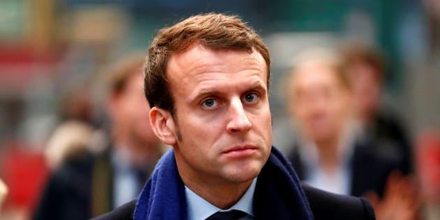 Emmanuel Macron en Allemagne, le 10 janvier.  REUTERS/Fabrizio Bensch