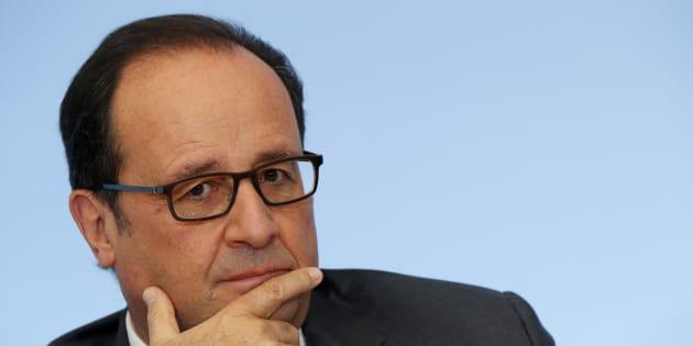 Le président François Hollande à l'Élysée le 4 octobre 2016.