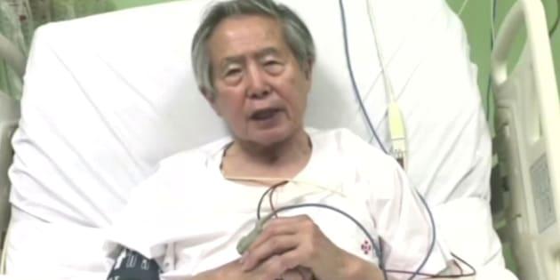 Alberto Fujimori, en una imagen encamado.