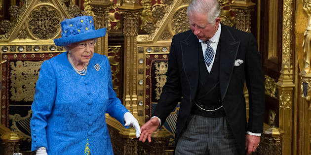 Britain's Queen Elizabeth stands with Prince Charles during the State Opening of Parliament in central London Britain June 21, 2017. REUTERS/Stefan Rousseau/Pool