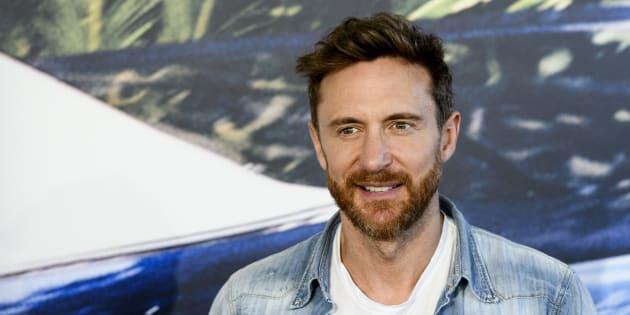 David Guetta en la presentación de su nuevo álbum de estudio, el 12 de septiembre en Madrid.