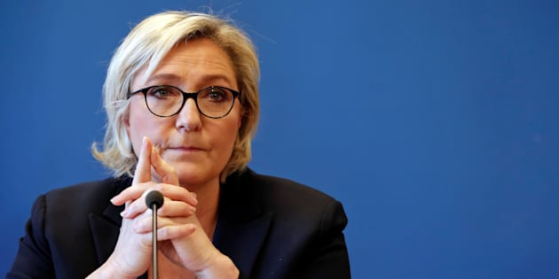 Marine Le Pen lors de sa conférence de presse du 22 novembre.