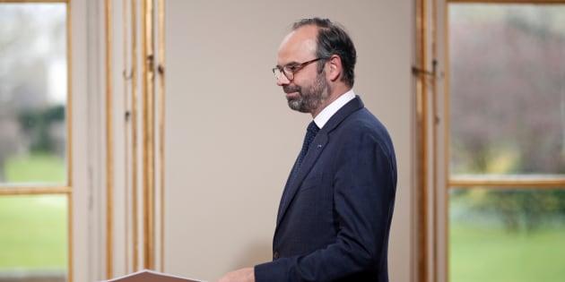 Edouard Philippe à Matignon le 4 avril 2018.