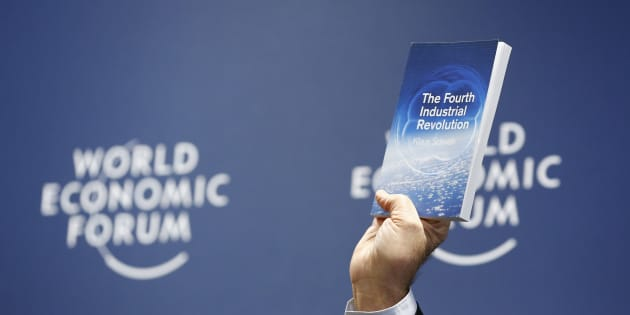 World Economic Forum (WEF) Executive Chairman and founder Klaus Schwab presents his book, 'The Fourth Industrial Revolution', during a news conference in Cologny, near Geneva, January 13, 2016.