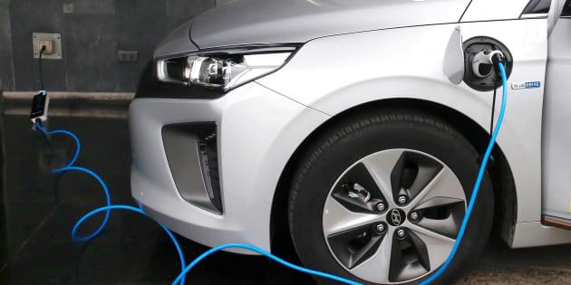 Un coche eléctrico de Hyundai. REUTERS/Rodrigo Garrido
