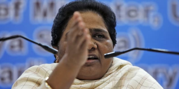 India's Bahujan Samaj Party (BSP) Chief Mayawati gestures as she address the media during a news conference in New Delhi December 3, 2012. REUTERS/Mansi Thapliyal (INDIA - Tags: POLITICS)