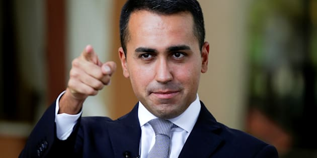 FILE PHOTO: 5-Star new leader Luigi Di Maio gestures during an interview with journalists in Rimini, Italy September 24, 2017. REUTERS/Max Rossi/File Photo