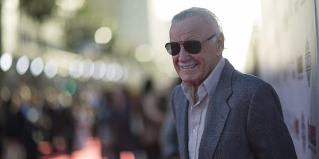 """Stan Lee à l'avant-première de """"Avengers: Age of Ultron""""  en 2015."""