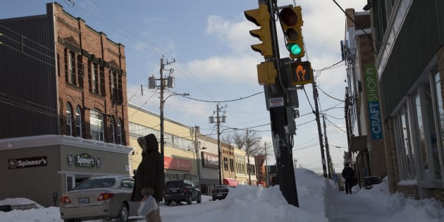 A downtown street in Sydney, N.S., Feb. 6, 2015. More than 600 people have lost their jobs after a call centre in Cape Breton abruptly closed, leaving employees without work weeks before Christmas.