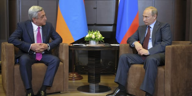 Vladimir Poutine et Serzh Sargsyan en 2014 (illustration)