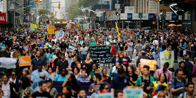 An estimated 400,000 people joined the 2014People's Climate Marchin New York City.