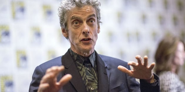 "Cast member Peter Capaldi is interviewed at a press line for ""Doctor Who"" during the 2015 Comic-Con International Convention in San Diego, California July 9, 2015. REUTERS/Mario Anzuoni"