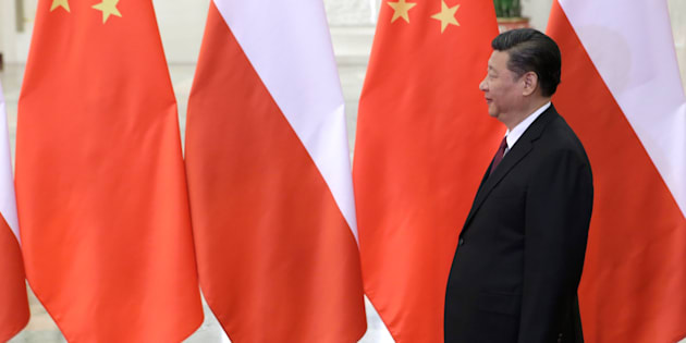 China's President Xi Jinping waits to meet Poland's Prime Minister Beata Szydlo, ahead of the upcoming Belt and Road Forum, at the Great Hall of the People in in Beijing on May 12, 2017.