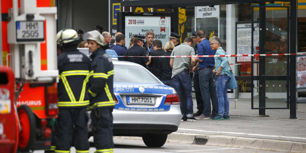 Attaque au couteau de Hambourg: ce que l'on sait de l'assaillant (Photo: le magasin où s'est produit l'attaque, vendredi 28 juillet, à Hambourg)