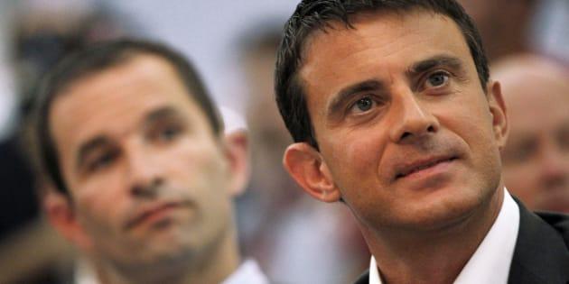 Manuel Valls et Benoît Hamon le 28 août 2011.