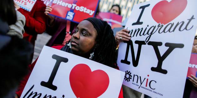 Des immigrants haïtiens et des supporteurs ont manifesté leur opposition à la politique de l'administration Trump, en novembre dernier.