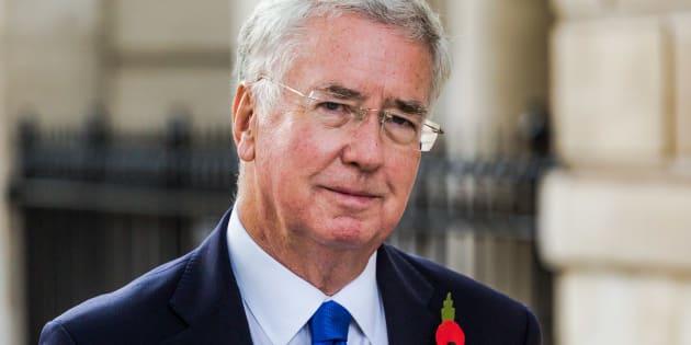London, November 01 2017. Defence Secretary Sir Michael Fallon is seen walking on Whitehall. � Paul Davey (Photo credit should read Paul Davey / Barcroft Media via Getty Images)