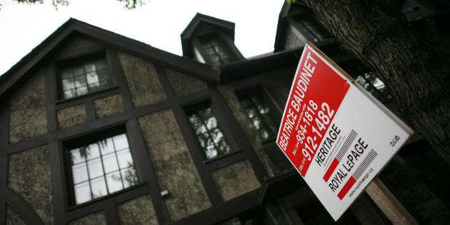 A home is put up for sale in downtown Montreal, July 14, 2009.