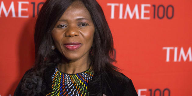 Honoree and human rights lawyer, Thuli Madonsela arrives at the Time 100 gala celebrating the magazine's naming of the 100 most influential people in the world for the past year, in New York April 29, 2014.