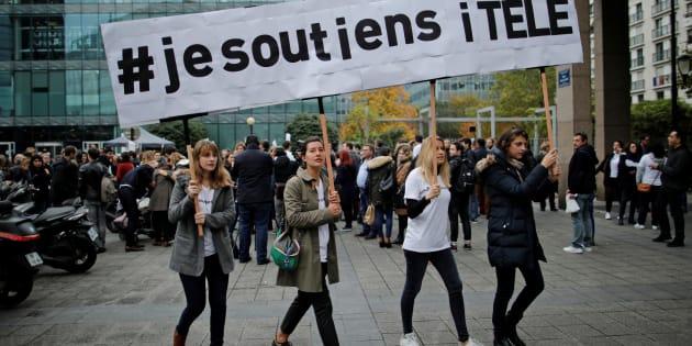 Manifestation de soutien à la grève à iTélé