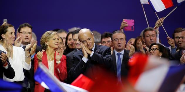 Alain Juppé lors de son meeting au Zénith, lundi 14 novembre.