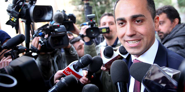 5-Star Movement leader Luigi Di Maio speaks to journalists as he arrives at the Link Campus University in Rome, Italy February 6, 2018.  REUTERS/Alessandro Bianchi