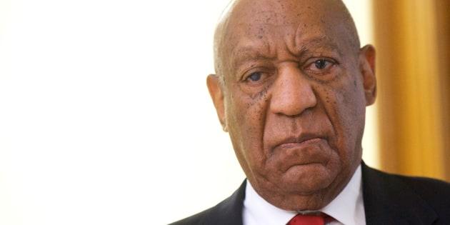 La reacción de Bill Cosby al veredicto de un jurado, el cual lo declaró culpable de agresión sexual.