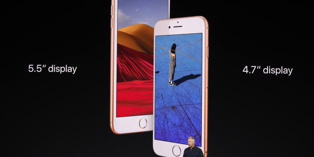 The iPhone 8, part of the new product suite launched by Apple today.