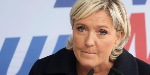 Marine Le Pen à Brachay le 9 septembre.