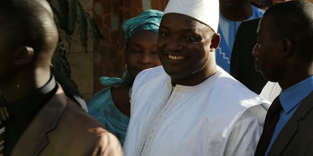 Gambia's President-elect Adama Barrow is seen after his inauguration at Gambia's embassy in Dakar, Senegal January 19, 2017.