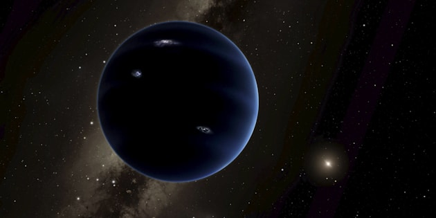 "An artist's rendering shows the distant view from ""Planet Nine"" back towards the sun, in this handout photo provided by the California Institute of Technology (Caltech) in Pasadena, California, January 20, 2016. The solar system may host a ninth planet that is about 10 times bigger than Earth and orbiting far beyond Neptune, according to research published on Wednesday. Computer simulations show that the mystery planet, if it exists, would orbit about 20 times farther away from the sun than Earth, said astronomers with the California Institute of Technology in Pasadena.  REUTERS/R. Hurt/Caltech/IPAC/Handout via ReutersATTENTION EDITORS - FOR EDITORIAL USE ONLY. NOT FOR SALE FOR MARKETING OR ADVERTISING CAMPAIGNS. THIS IMAGE HAS BEEN SUPPLIED BY A THIRD PARTY. IT IS DISTRIBUTED, EXACTLY AS RECEIVED BY REUTERS, AS A SERVICE TO CLIENTS. NO RESALES. NO ARCHIVE."