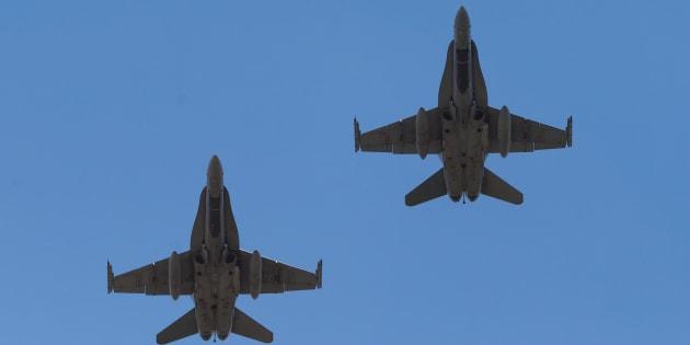 Deux CF-18 Hornet